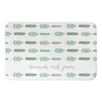 Designs Direct 21-Inch x 34-Inch Fern Bath Mat in Green