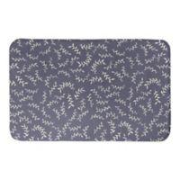 Designs Direct 21-Inch x 34-Inch Soft Blue Vines Bath Mat