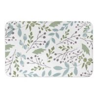 "Direct Designs Family Florals 21"" x 34"" Bath Mat in Green"