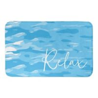 "Direct Designs ""Relax"" 21"" x 34"" Bath Mat in Blue"