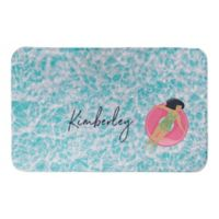 "Direct Designs Floating in the Ocean 21"" x 34"" Bath Mat in Blue"