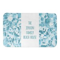 "Direct Designs Pool Water 21"" x 34"" Bath Mat in Blue"