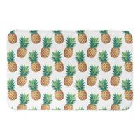"Designs Direct 21"" x 34"" Pineapple Pattern Bath Mat in Green"