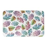"Designs Direct Tropical Palm Leaves 21"" x 34"" Bath Mat in Pink"