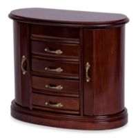 Mele & Co. Walnut Heloise Wood Jewelry Box