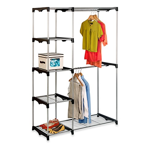 Honey Can Do 174 68 Inch Steel Freestanding Wardrobe Closet