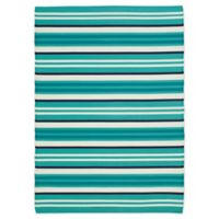 Patio Mats 2019 6' X 9' Flat-weave Area Rug in Teal