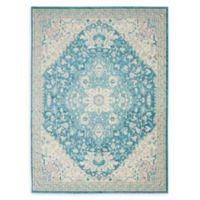 Nourison™ Tranquil Persian 5'3 x 7'3 Area Rug in Ivory/Turquoise