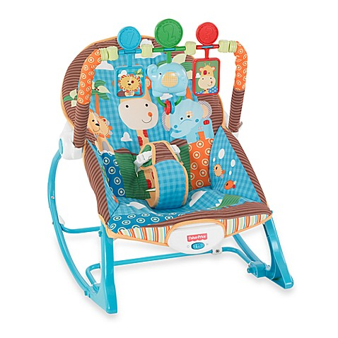 Fisher Price 174 Blue Animals Infant To Toddler Rocker