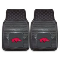 University of Arkansas Heavy Duty 2-Piece Vinyl Car Mat Set
