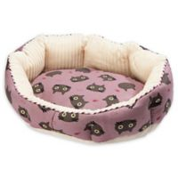 Petique Cats Small Round Pet Bed in Purple