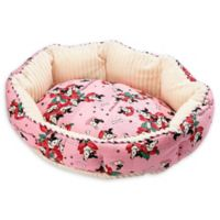 Petique Frenchies Small Round Pet Bed in Pink