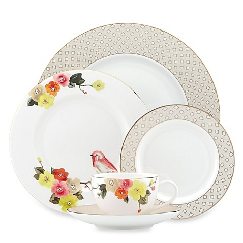 Kate spade new york waverly pond dinnerware collection for Bed bath and beyond kate spade