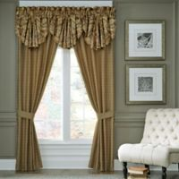 Croscill® Ashton 84-Inch Rod Pocket Window Curtain Panel Pair in Gold