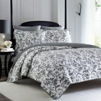Laura Ashley® Amberley Twin Quilt Set in Black