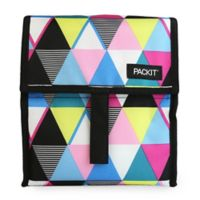 PackIt Freezable Lunch Bag in Multicolor Triangle Stripes