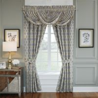 Croscill® Nadia 84-Inch Rod Pocket Window Curtain Panel Pair in Light Grey