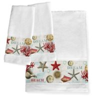 Laural Home® Dream Beach Shells Hand Towels (Set of 2)