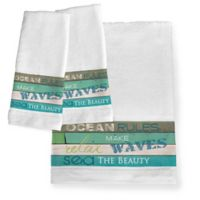 Laural Home® Ocean Rules Hand Towels (Set of 2)