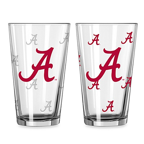 University of Alabama Color Changing 16-Ounce Pint Glasses (Set of 2)