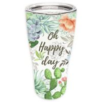 Evergreen Fresh Succulents Double Wall Stainless Steel Travel Mug