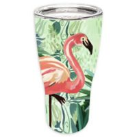 Evergreen Flamingo Double Wall Stainless Steel Travel Mug