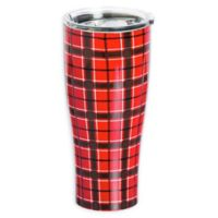 Evergreen Red Plaid Double Wall Stainless Steel Travel Mug