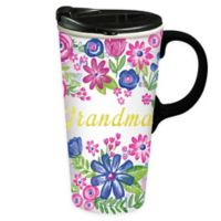 Evergreen Grandma Ceramic Travel Cup
