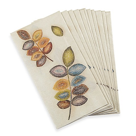 Croscill Mosaic Leaves 16 Pack Guest Towels Bed Bath