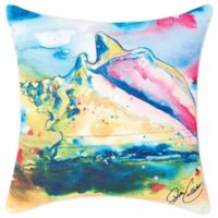 C&F Home™ Conch Shell Print Square Indoor/Outdoor Throw Pillow in Blue
