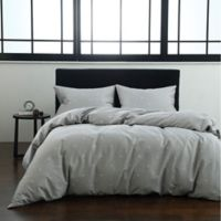 Bijou Full/Queen Duvet Cover Set in Grey