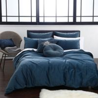 Velvet Full/Queen Duvet Cover Set in Blue