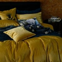 Velvet Full/Queen Duvet Cover Set in Gold