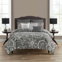 Everly 6-Piece Twin Comforter Set in Charcoal