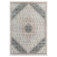 Rugs America Abstract Diamond 5' x 7' Area Rug in Ivory/Blush