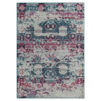Rugs America Mod Floral 5' x 7' Area Rug in Red