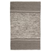 Jaipur Living Canan 5' x 8' Handcrafted Area Rug in Black/Ivory