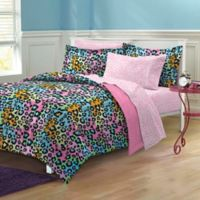 Neon Leopard 7-Piece Queen Comforter Set