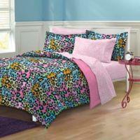 Neon Leopard 7-Piece Queen Comforter Set