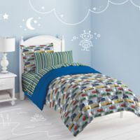 Trains 7-Piece Full Comforter Set in Blue