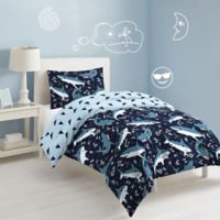 Sharks 2-Piece Reversible Twin Comforter Set