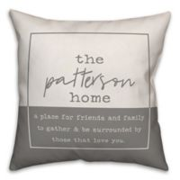 Designs Direct Our Home Square Throw Pillow in Grey