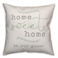 """Designs Direct """"Home Sweet Home"""" Square Throw Pillow in Grey"""