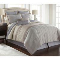 Nanshing Hardford Queen Comforter Set in Grey/Ivory