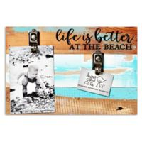 Sweet Bird & Co. Life Is Better At The Beach 2-Photo Clip Frame