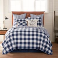 Bee & Willow™ Home Sawyer Reversible King Quilt in Navy
