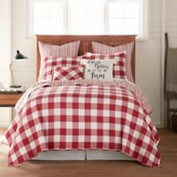 Bee & Willow™ Home Sawyer Reversible Twin Quilt in Red