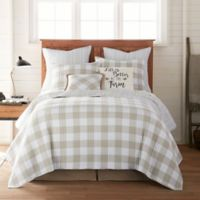 Bee & Willow™ Home Sawyer Reversible Twin Quilt in Taupe