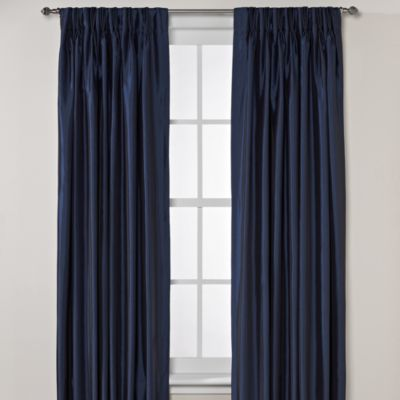 Argentina Pinch Pleat Back Tab Interlined Window Curtain Panels Bed Bath Beyond