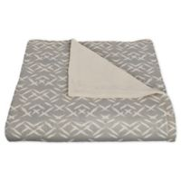 Designs Direct Creative Group Aztec-Inspired Fleece Throw Blanket in Grey